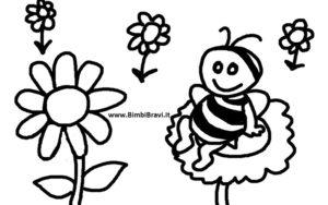 Disegno ape fiore