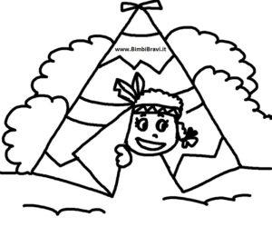 Disegno indiana nella tenda
