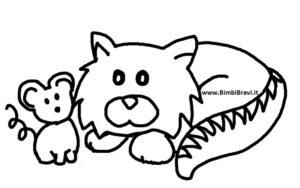 Disegno gatto e topo