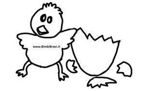 Disegno pulcino e uovo